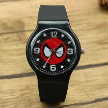 Fashion Marvel spider man Quartz wristWatch For Boy children cartoon spider silicone sports watches gift watch