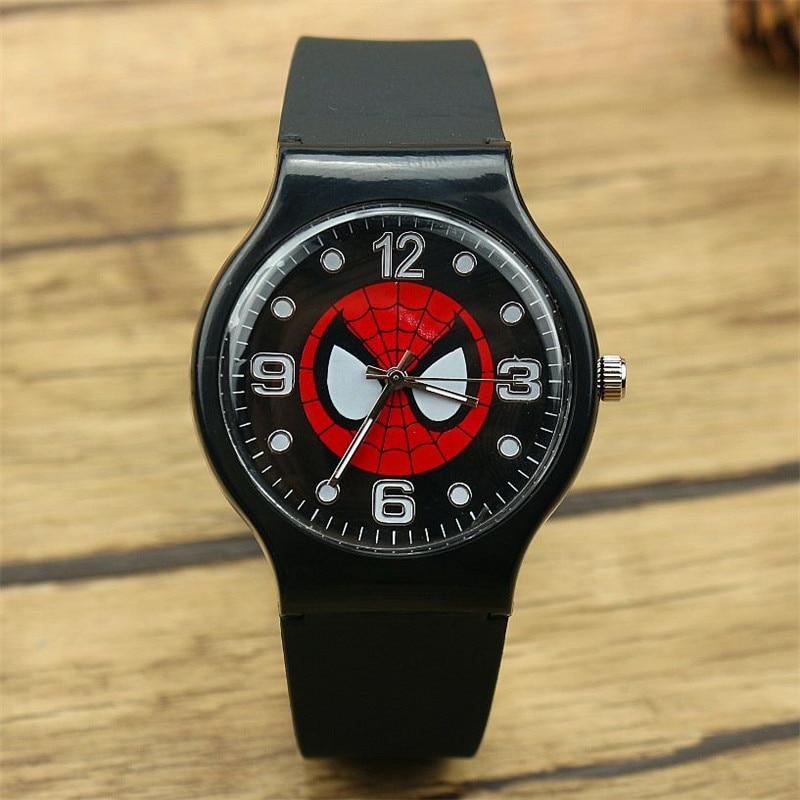 Fashion Marvel spider man Quartz wristWatch For Boy