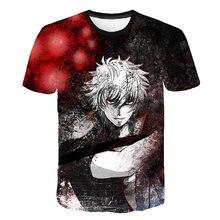Man Crewneck Sakata Gintoki Gintama Anime T-shirt Shirogane Tamashii-hen Kouhan-sen Streetwear Top Unisex Vintage S-6XL Camiseta hen s pens