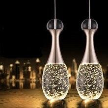 цена Vintage Pendant Lamp Modern LED Glass Crystal Bubble Pendant Light Minimalist Fashion Hanglamp Creative Dinning Room Bar Lamp онлайн в 2017 году