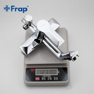 Image 5 - Frap 1 Set Bathroom Rainfall Shower Faucet Set Mixer Tap With Hand Sprayer Wall Mounted Bath Shower Sets Single Handle F2418