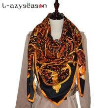 2018 bandana femmes hijab foulard en soie imprimé Indien Grand Carré  Foulards Nouvelle Femme Élégante Mode fb9acae83f8