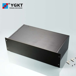YGH-002 482*132-250 mm (wxhxd) 3u 19 inch rack mount chassis  brush finished aluminum boxes electronics