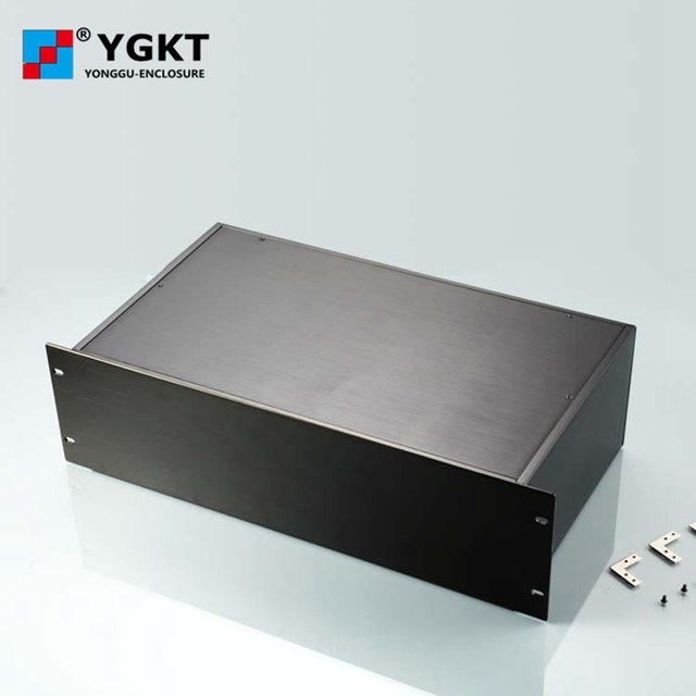 US $86 8 |YGH 002 482*132 250 mm (wxhxd) 3u 19 inch rack mount chassis  brush finished aluminum boxes electronics-in Connectors from Lights &  Lighting
