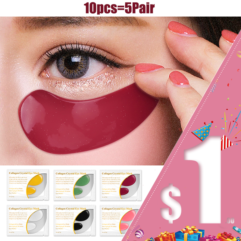 LANBENA 5 Pair Collagen Eye Mask Eye Serum patches eyes Dark Circle Puffiness Eye Bag Anti-Aging Wrinkle Firming Skin Care