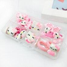 1set 2016 korean cute style hello kitty  elastic hair bands Children Girl hair clip kids hair accessories Beautifully Edition
