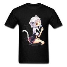 Akeno Neko Waifu Cat Manga T Shirt Sweet Hug Japanese Anime Keyco Girl Pin Up Tshirt Sex Cute Kawaii Graphic Men Tops Tees