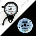 Vintage Black Housing White Face Mechanical 0-140KMH Stainless odometer speedometer +4 ADDITIONAL FEATURES LED Indicator Lights