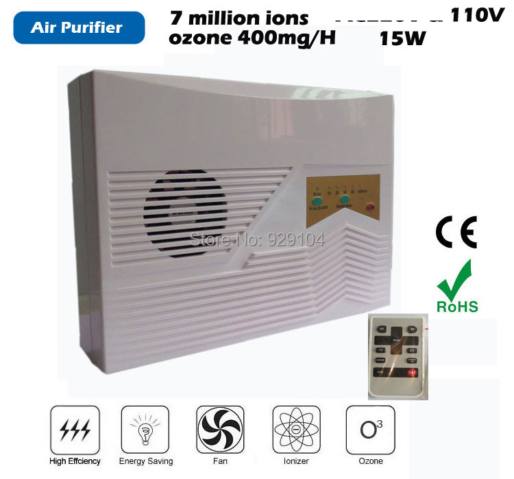 ozone air  purifier household ozonator  sterilizer purification 110v water ozone puifier ozonator with remote control cold corona discharge ozonator 6000mg h for air purification
