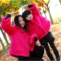child outerwear child winter thickening little girl cotton padded jacket top fur wadded jacket