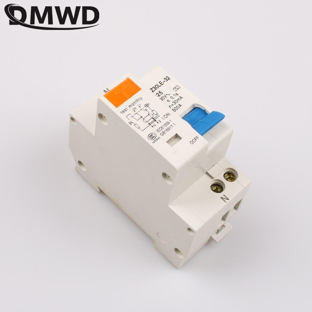 Dmwd dpnl DZ30LE-32 1 P + N 25A 220 В 230 В 50 Гц 60 Гц УЗО с более чем ток утечки и авдт защиты