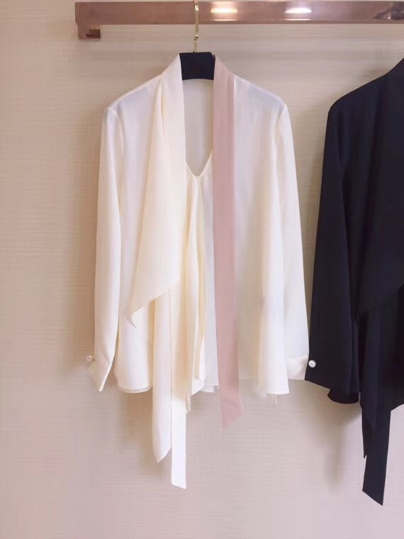 2018 woman lady bow collar blouse shirts tops-in Blouses & Shirts from Women's Clothing    1