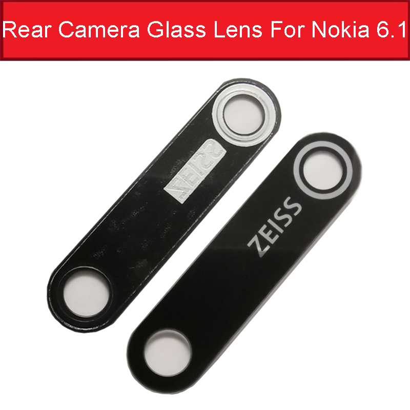 Rear Camera Glass Lens For Nokia 6.1 6(2018) TA-1016 TA-1043 TA-1045 TA-1050 TA-1089 5.5 In Back Camera Lens Cover With Sticker