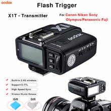 цена Godox X1T Flash Trigger TTL Flash controller Transmitter  Wireless Shutter remote For Canon Nikon Sony Olympus/Panasonic Fuji онлайн в 2017 году