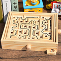 2017New Style Intelligence Toys Hand Eye Coordination Wooden Maze Game Gifts For Children