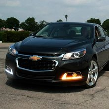free ship, LED Daytime Running Lights DRL, Fog Lamp for Chevrolet chevy Malibu 2012-2015  With Yellow Turn Signal Lights case