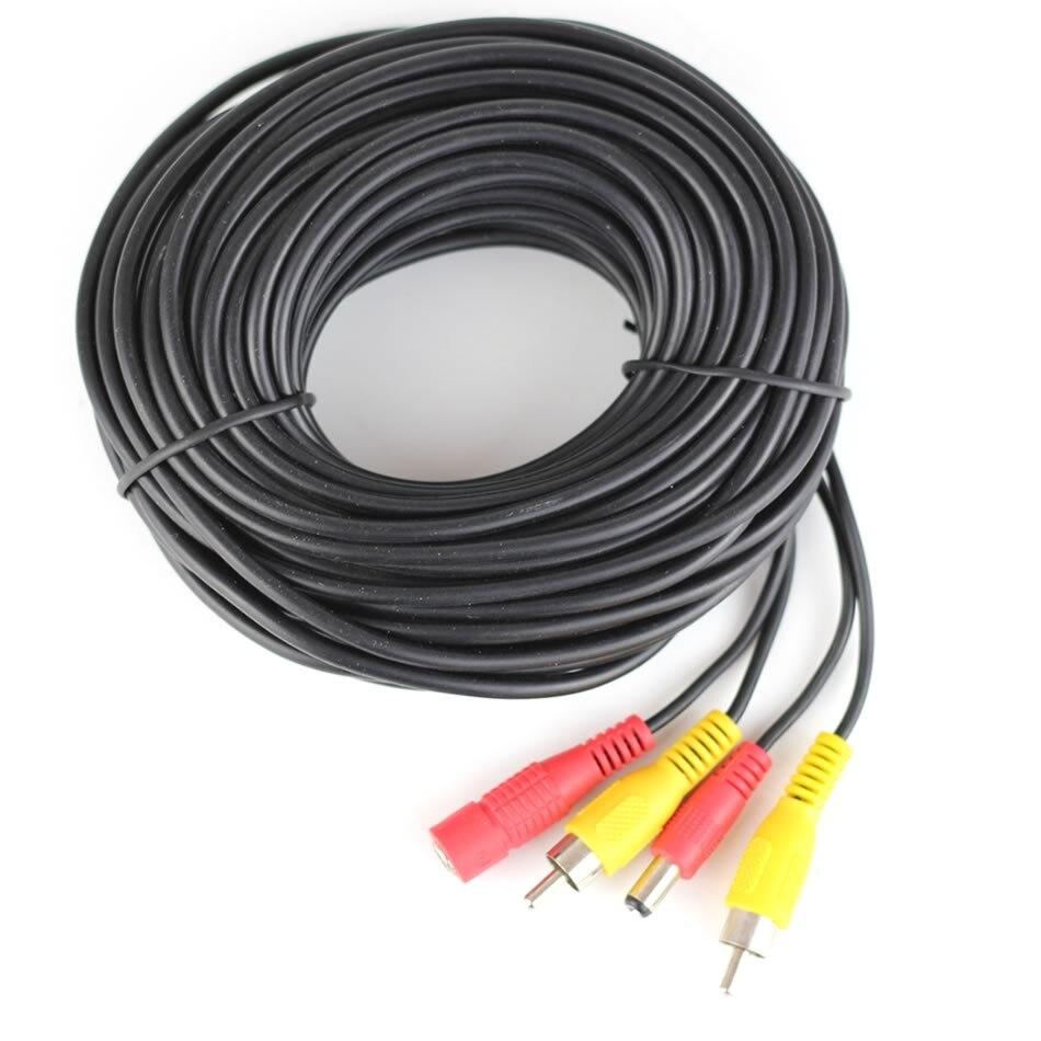 5 10 15 20 metros DC Power RCA AV Video 12 V 24 V Cable de extensión ...