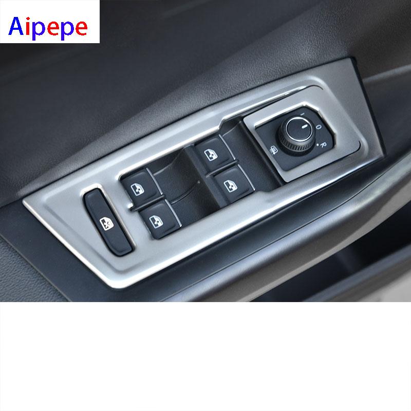para exteriores listones de estilismo cromados con luz antiniebla Tirador de puerta de alta fluidez para T-ROC 2017 2018 pl/ástico ABS espejo retrovisor