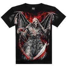 Herren t-shirts Mode 2015 Neue Sommermänner Wear Baumwolle Kurze hülse T-shirt Casual 3d-druck Rock T-shirt Für Mann Voller Gedruckt