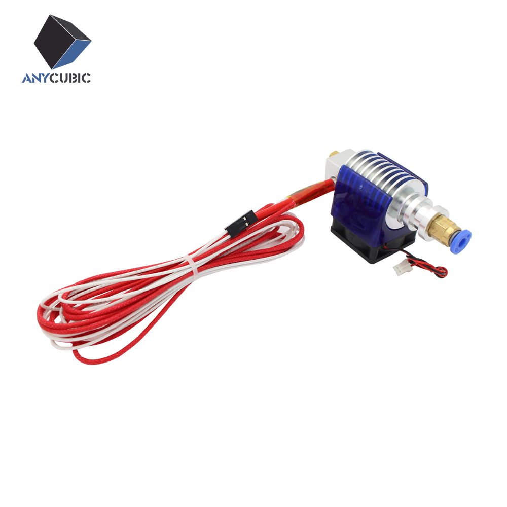 Long distance  V5 J-head hotend  with Cooling Fan for 3d printer 1.75mm/3mm Filament Wade Extruder 0.3/0.4/0.5mm Nozzle 3d printer all metal j head hotend with cooling fan ptfe tubing for 1 75 3 0mm v6 bowden wade extruder 0 2 1 0mm nozzle