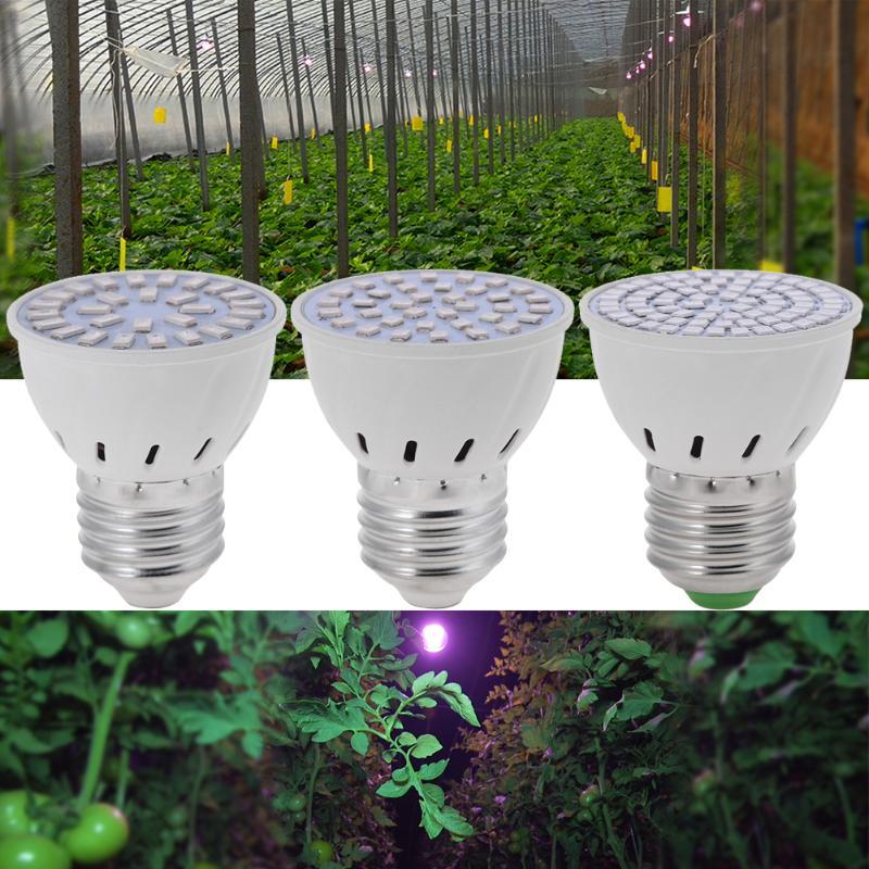 Full Spectrum E27 36/54/72 LED Grow Light Indoor Plant Growth Lamp LED Bulb 220V Energy Saving Spotlight Lights Greenhouse Light