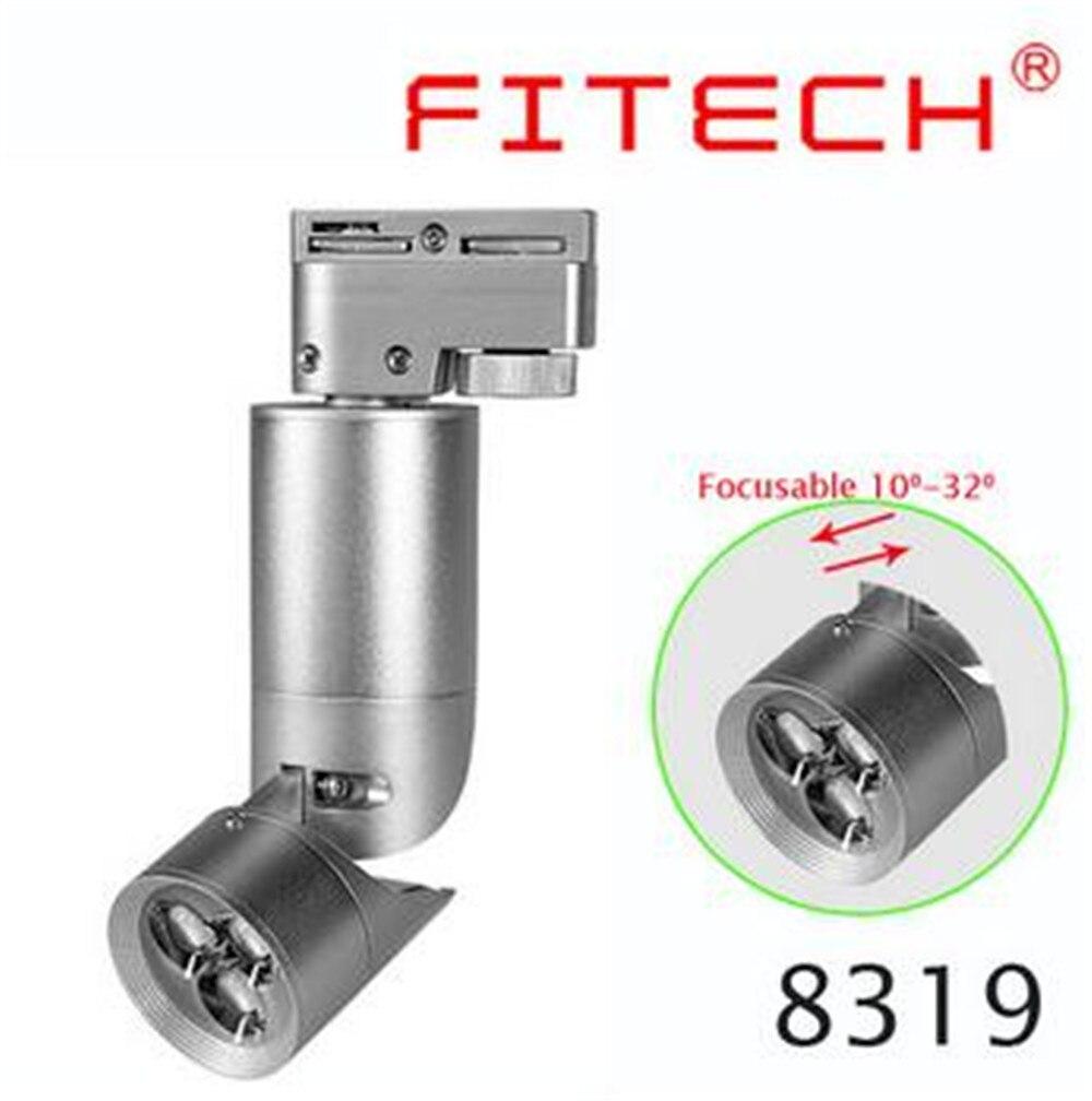 Новый Дизайн розничная продажа 7 Вт AC110/240 В Noverty CREE led чип зум свет трек, высокое качество выставочного зала фон свет - 2