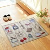 Kitchen Mat Jacquard Food Theme Doormat Soft Fabric Home I Love Kitchen Floor Mat Anti Slip