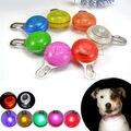 Brillante Para Perros Mascotas LED Nocturna de Seguridad de Luz de Flash para el Cuello, Interruptor de Botón