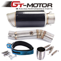 Gt motor de motocicleta medio del silenciador del tubo de escape para honda cbr500 2013-2015