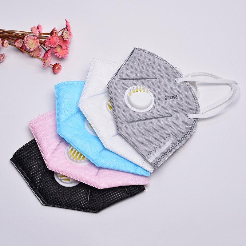 Brillante 2 Unids/pack Unisex Pm2.5 Mascarillas Desechables Anti-polvo Filtro De Carbón Activado Tejido Adulto Respiración Anti-niebla Boca-de Mufla