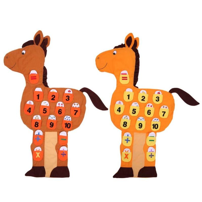 Cute Horse Number Wall Chart Baby Kids Interest Training Toys Animal Educational Toy Children Intelligence Developing Gift
