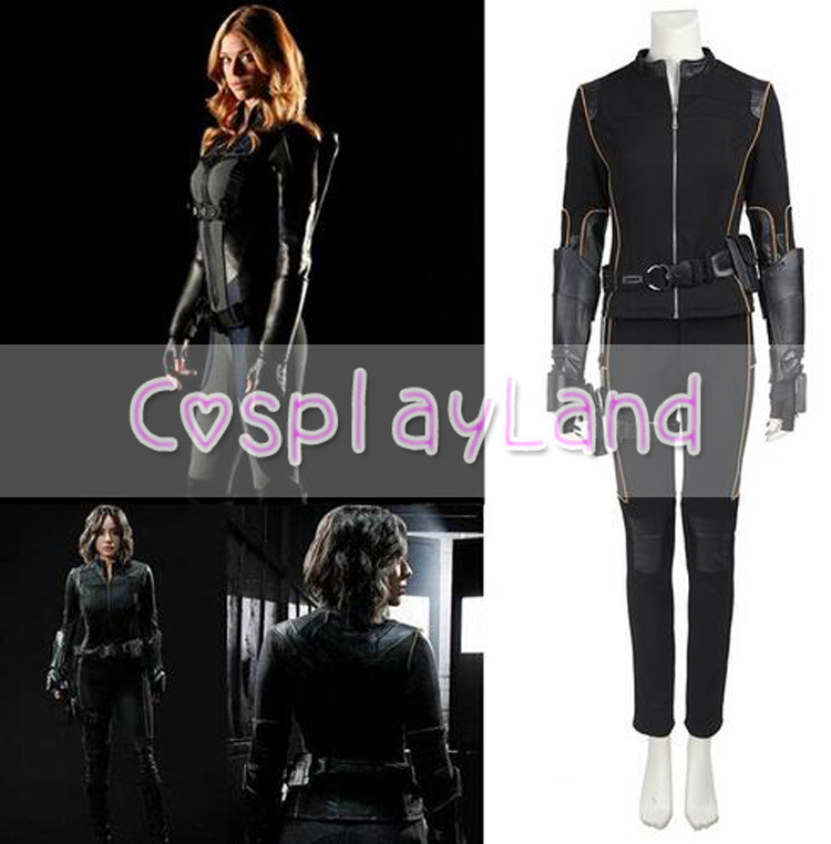 Agents of shield Skye Quake Cosplay Superhero Adult Women Suit Outfit Costume Halloween  ...