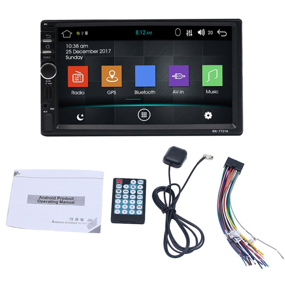 7 Inch HD Capacitive Screen 7 Colorful Light Car DVD Player European Map ship from russ russ kommer