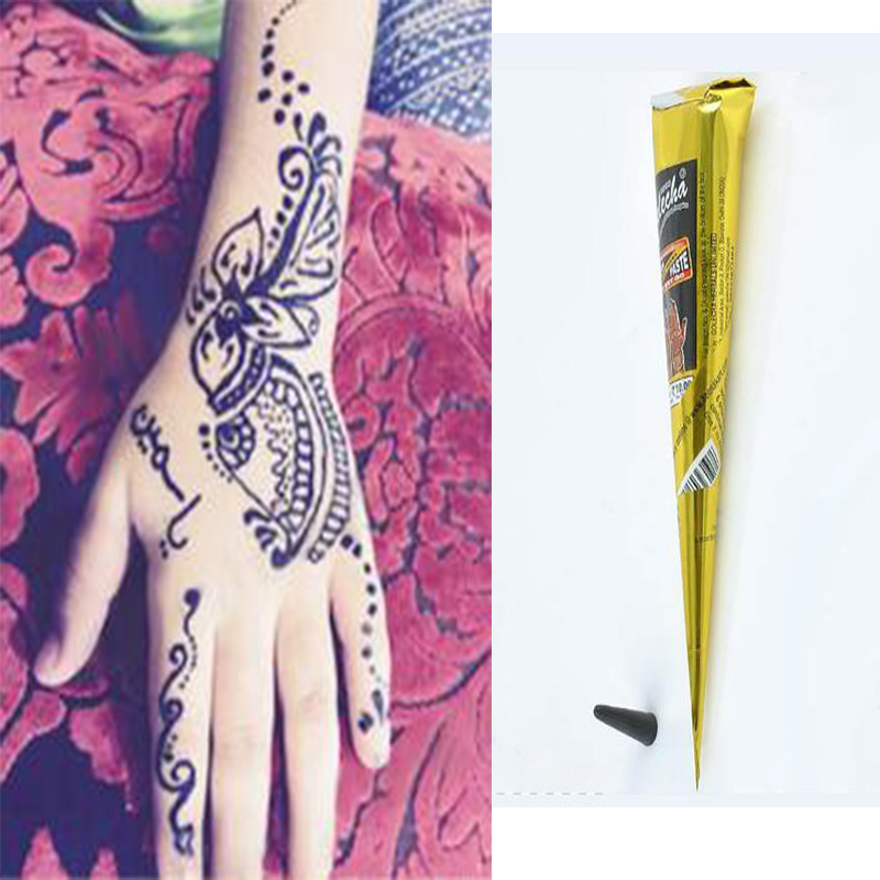 Natural herbal henna cones temporary tattoo pen kit bride for Tattoo pen kit