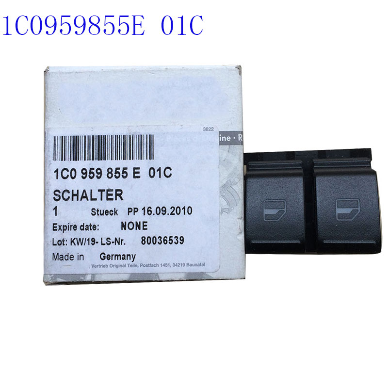 1C0959855E01C for v w Beetle Lifter Switch 1C0959855E 01C Electric window lift button 1 pcs