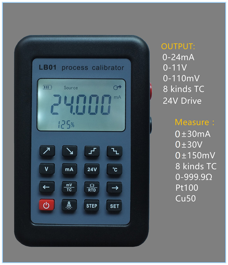 2017 New verison LB01 Process alibrator Thermocouple Current Voltmeter signal generator source process calibrator 4-20mA hantek ht824 multifunction process calibrator correction voltage and current frequency usb signal generator industry inst