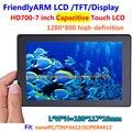 FriendlyARM HD700, Tela Sensível Ao Toque de 7 polegadas tela de Toque Capacitivo, de alta definição, para TINY4412 SUPER4412 NANOPC T1