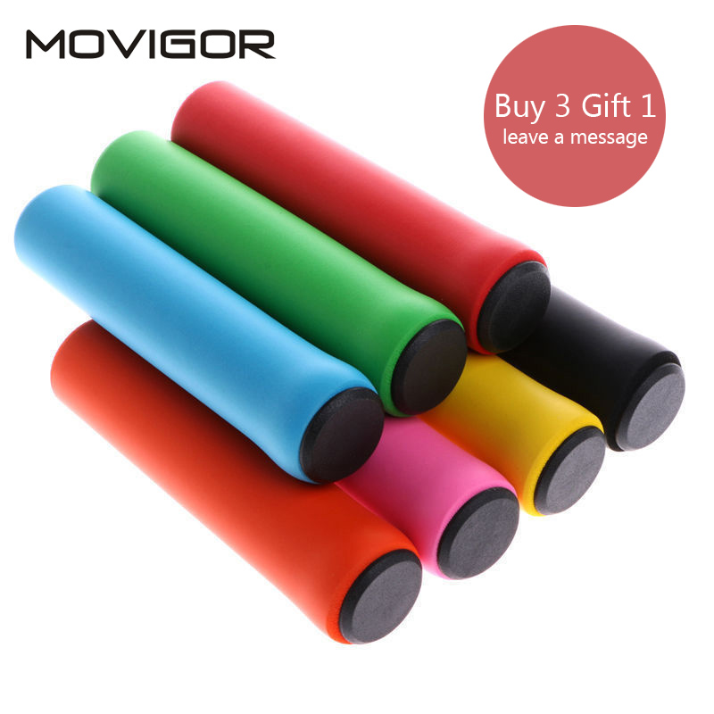 MOVIGOR 7 Colors Ultralight Bicycle Handlebar Grips Foam Silicone Sponge Anti-skid Shock-absorbing MTB Road Bike Cycling Grips