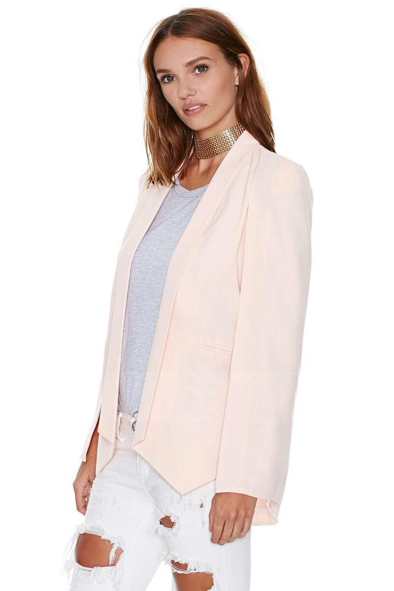 Frauen Kleidung & Zubehör Weiß Damen Weiß Rosa Schwarz Mäntel Büro Jacke Mantel Blazer Kerb Anzug 2019 Frauen Langarm Revers Cape Poncho Blazer Kataloge Werden Auf Anfrage Verschickt Blazer