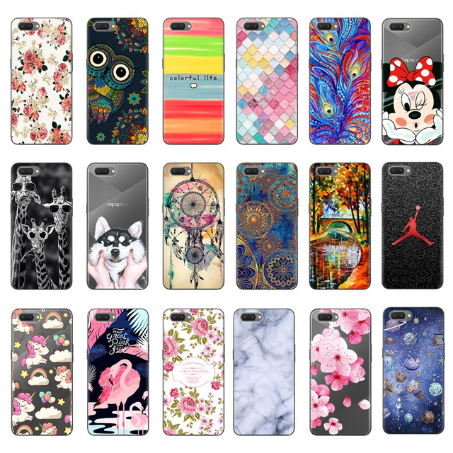 for Oppo A3S Case Silicone Soft TPU Mobile Phone Case Bag 6.2