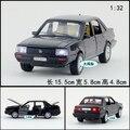Regalo para bebé 1 unid 1:32 15.5 cm Volkswagen VW Santana acustóptica aleación tira del modelo del coche de los niños juguete de niño