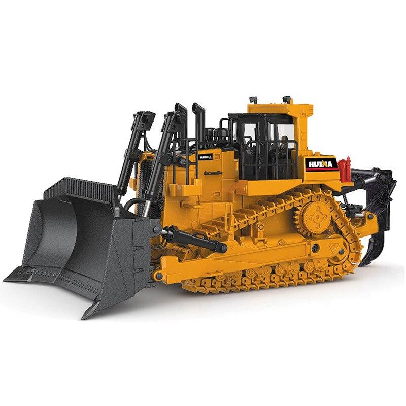 Bulldozer sur chenilles modèle alliage moulé sous pression 1:50 piste d'ingénierie voiture haute Simulation Collection jouets en métal pour garçons enfants