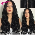 8A 180% Density Malaysian Silk Base Human Hair Wigs Full Lace Wigs Body Wave 4*4 Silk Top Lace Front Wigs With Naturall Hairline