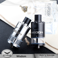 Subtech Ecig Shop Original WISDOM RDTA Rebuildable Tank Atomizers Huge Vape With Glass Resin Drip Double