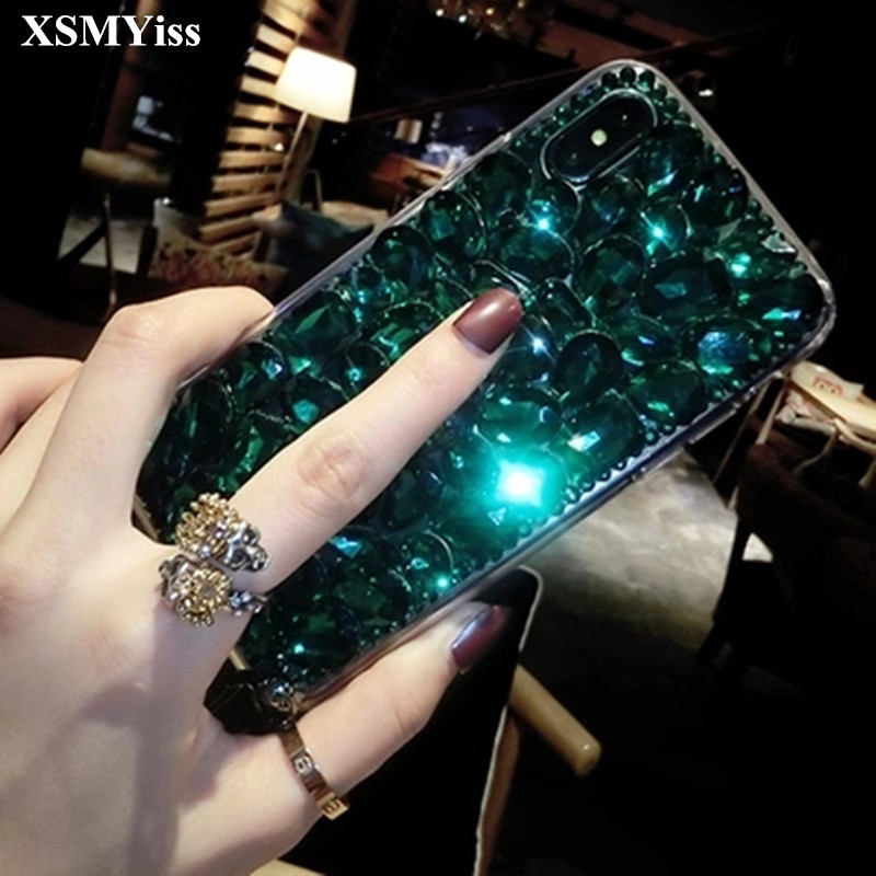 For Xiaomi mi 8 Lite 9 SE 5X 6X MAX3 For Xiaomi Redmi6 4X 4A 5A 6A Note 5 6 7 Luxury Bling Crystal Diamond rhinestone Phone case