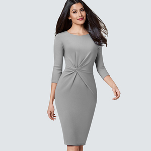 Image 4 - Elegant Work Business Sheath Pencil Office Lady Fancy Autumn Bodycon Formal Career Dress HB476
