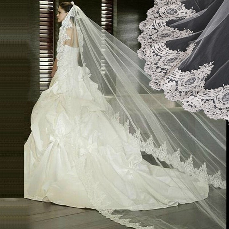 White-Ivory-Lace-Wedding-Veil-Bridal-Veil-2-5-Meters-Cathedral-Long-Wedding-Veils-Veu-De (1)
