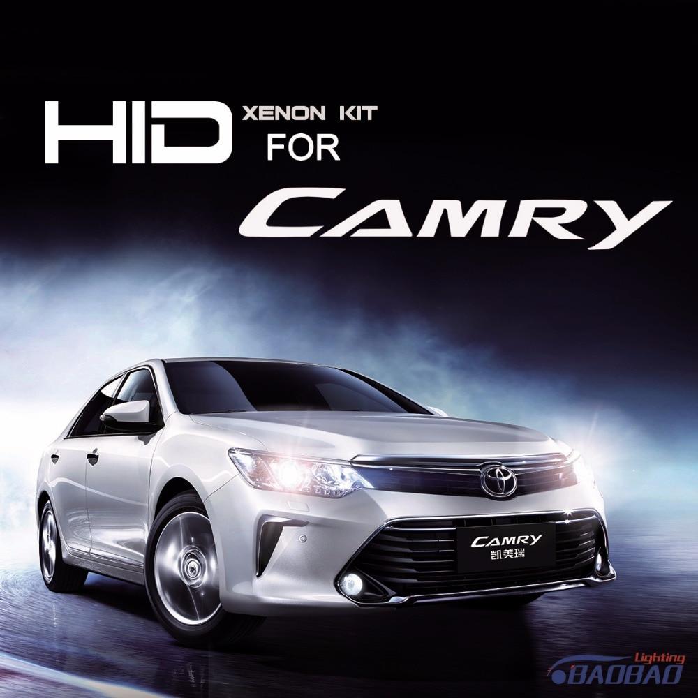 ФОТО For Toyota Camry 55W Ultra Fast Bright HID headlight kit, full digital waterproof free shipping