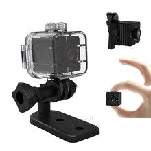 Pequena câmera De Segurança Câmera DV com Caixa À Prova D' Água 1080 P Full HD Night Vision Detecção de Movimento Micro Câmera de Vídeo de esportes Originais SQ12