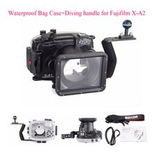 Meikon 40m Underwater Diving Camera Housing Case for Fujifilm X-A2 + Diving handle,Waterproof Bag Case Cover for Fujifilm X-A2